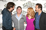 Bradley Cooper, Director Scott Ellis, Patricia Clarkson and Alessandro Nivola attend the 'The Elephant Man' Broadway Cast photo call at Sardi's on October 21, 2014 in New York City.