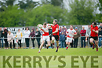 In Action St Pats Captain Kieran Hurley and Glen's Feral Griffin at the  Junior Premier Club Championship 2016 Round 1 St Pat's Blennerville V Glenbeigh-Glencar at Blennerville GAA Ground on Sunday