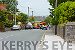 The scene of the fatal road traffic accident in Ardfert village on Friday morning.