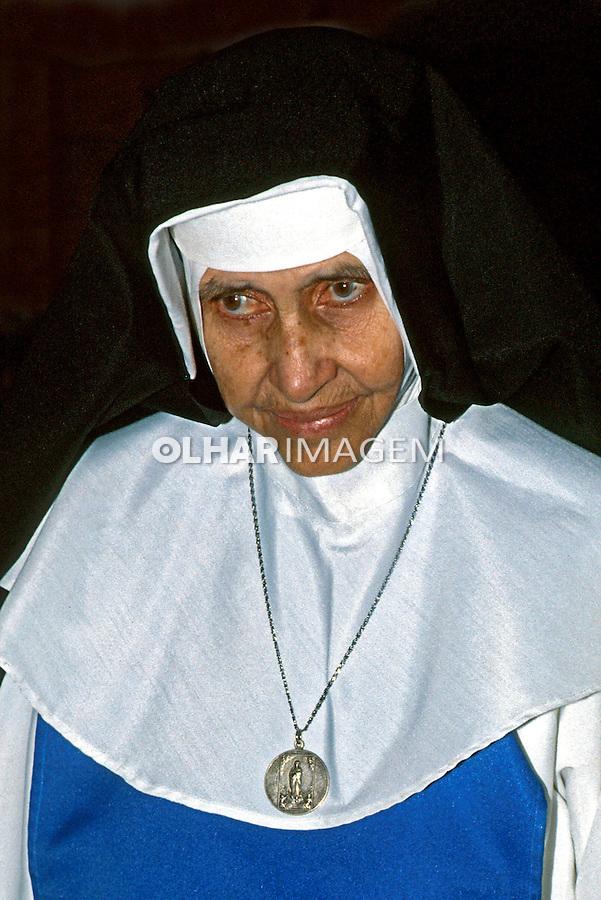 Pessoa. Personalidade. Religiosa Irmã Dulce. BA. 1984. Foto de Daniel Augusto Jr.