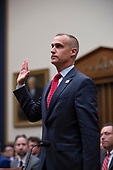 Former Campaign Manager of United States President Donald Trump's 2016 campaign Corey Lewandowski is sworn in before the United States House of Representatives Committee on the Judiciary on Capitol Hill in Washington D.C., U.S. on September 17, 2019.<br /> <br /> Credit: Stefani Reynolds / CNP