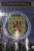 Scotland banner in the Scotland v Macedonia FIFA World Cup Qualifying match at Hampden Park, Glasgow on 11.9.12.