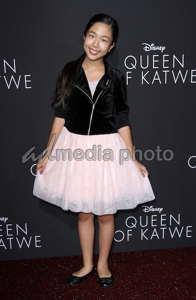 "20 September 2016 - Hollywood, California - Nina Lu. ""Queen Of Katwe"" Los Angeles Premiere held at the El Capitan Theater in Hollywood. Photo Credit: AdMedia"