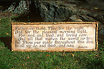 Old Camp Allagash prayer sign used in camp dining room.