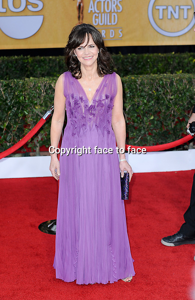 Sally Field (in a purple J. Mendel Spring 2013 Dress) arrives at the 19th Annual Screen Actors Guild Awards held at the Shrine Auditorium on January 27th, 2013 Los Angeles, CA (Pictured: Sally Field)...Credit: Elevation Photos/face to face..