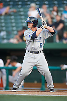 West Michigan Whitecaps outfielder Chad Wright #18 during a Midwest League game against the South Bend Silver Hawks at Coveleski Stadium on August 15, 2012 in South Bend, Indiana.  West Michigan defeated South bend 7-1.  (Mike Janes/Four Seam Images)