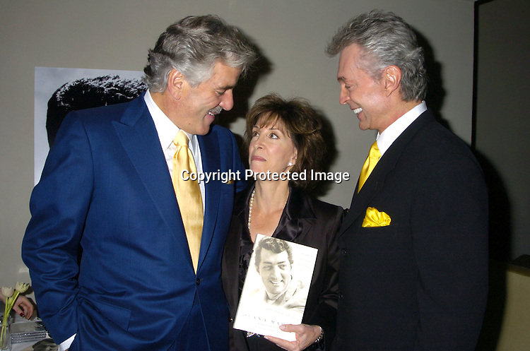 "Dennis Farina, Deana Martin and husband John Griffith ..at a cocktail party at Chambers Hotel on November 9, 2004 celebrating the launch of Deana Martin's Book ""Memories Are Made of This"" Dean Martin Through his Daughter's eyes. ..Photo by Robin Platzer, Twin Images"