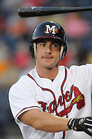 9 April 2008: Outfielder Carl Loadenthal (4) of the Mississippi Braves, Class AA affiliate of the Atlanta Braves, in the season's home opener against the Mobile BayBears at Trustmark Park in Pearl, Miss. Photo by:  Tom Priddy/Four Seam Images