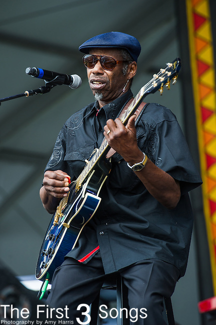 """Walter """"Wolfman"""" Washington & the Roadmasters performs during the New Orleans Jazz & Heritage Festival in New Orleans, LA."""