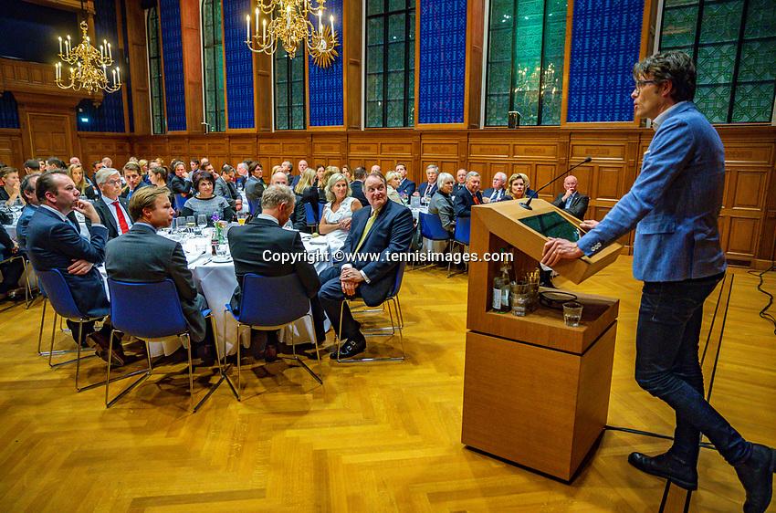 Den Bosch, The Netherlands, Februari 07 2019,  Maaspoort , FedCup  Netherlands - Canada, official dinner, Roger Davids<br /> Photo: Tennisimages/Henk Koster