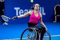 Alphen aan den Rijn, Netherlands, December 13, 2018, Tennispark Nieuwe Sloot, Ned. Loterij NK Tennis, Wheelchair, Marjolein Buis (NED)<br /> Photo: Tennisimages/Henk Koster
