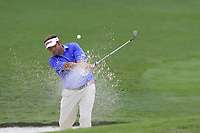 Matt Dobyns (USA) chips from a bunker at the 18th green during Friday's Round 2 of the 2017 PGA Championship held at Quail Hollow Golf Club, Charlotte, North Carolina, USA. 11th August 2017.<br /> Picture: Eoin Clarke | Golffile<br /> <br /> <br /> All photos usage must carry mandatory copyright credit (&copy; Golffile | Eoin Clarke)