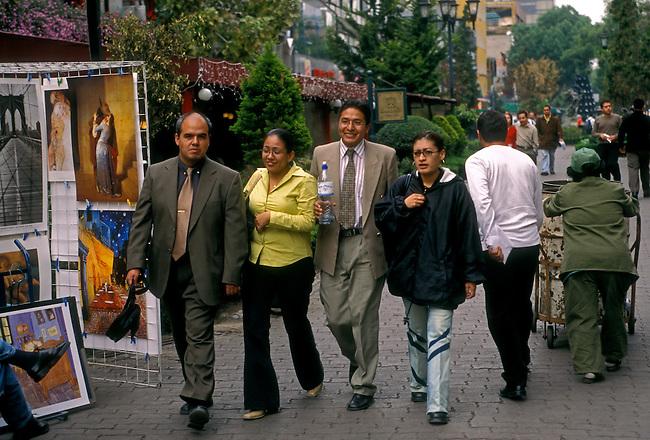 People, pedestrian zone, Zona Rosa, Mexico City, Distrito Federal, Mexico, North America