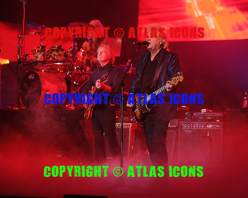 HOLLYWOOD FL - MARCH 03: Graeme Edge, Justin Hayward and John Lodge of The Moody Blues perform at Hard Rock Live held at the Seminole Hard Rock Hotel & Casino on March 3, 2016 in Hollywood, Florida. : Credit Larry Marano © 20166
