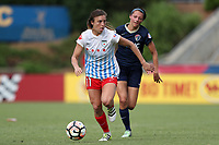 Cary, North Carolina  - Sunday May 21, 2017: Sofia Huerta and Ashley Hatch during a regular season National Women's Soccer League (NWSL) match between the North Carolina Courage and the Chicago Red Stars at Sahlen's Stadium at WakeMed Soccer Park. Chicago won the game 3-1.