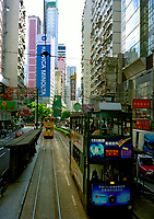 Hong Kong, China, 2005 file photo -<br /> double decker buses in Hong Kong