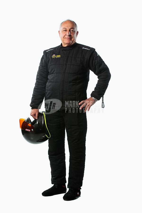 Feb 6, 2019; Pomona, CA, USA; NHRA pro stock driver Fernando Cuadra poses for a portrait during NHRA Media Day at the NHRA Museum. Mandatory Credit: Mark J. Rebilas-USA TODAY Sports