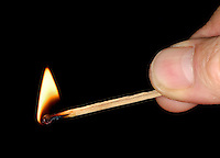 match being struck