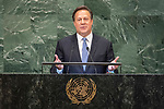 DSG meeting<br /> <br /> AM Plenary General DebateHis<br /> <br /> His Excellency Juan Carlos Varela Rodr&iacute;guez, President, Republic of Panama