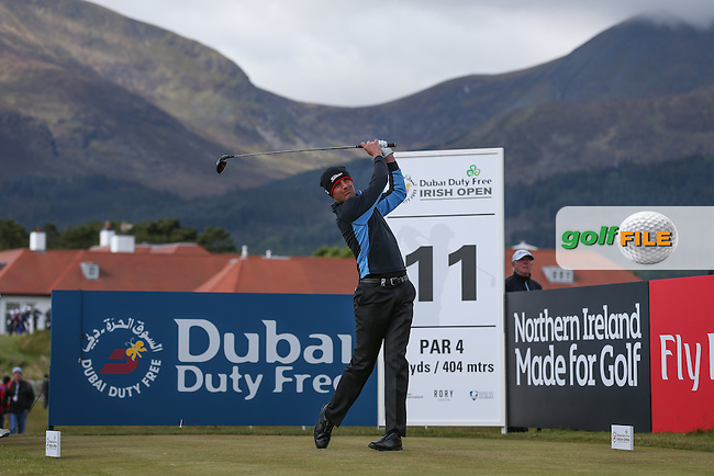 Robert Dinwiddie (ENG) plays to the 11th  during Round Two of the 2015 Dubai Duty Free Irish Open Hosted by The Rory Foundation at Royal County Down Golf Club, Newcastle County Down, Northern Ireland. 29/05/2015. Picture David Lloyd | www.golffile.ie