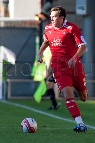 15.10.2011, London, England. Charlie Daniels Orient's midfielder  in action during the NPower league one football match between Leyton Orient and Bury played at the Matchroom Stadium, Brisbane Road, London. Mandatory credit: ActionPlus