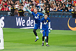 David de Gea and Pepe Reina during Spain training session at Santiago Bernabeu Stadium in Madrid, Spain September 01, 2017. (ALTERPHOTOS/Borja B.Hojas)