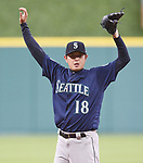 Hisashi Iwakuma (Mariners),<br /> APRIL 4, 2017 - MLB :<br /> Seattle Mariners starting pitcher Hisashi Iwakuma during the Major League Baseball game against the Houston Astros at Minute Maid Park in Houston, Texas, United States. (Photo by AFLO)