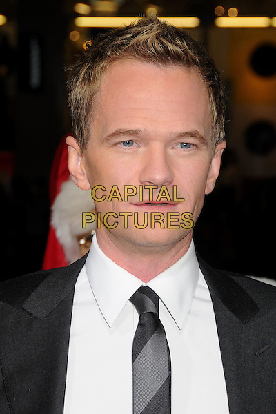 Neil Patrick Harris.'A Very Harold & Kumar 3D Christmas' Los Angeles premiere, Grauman's Chinese Theatre, Hollywood, California, USA..2nd November 2011.headshot portrait grey gray black white shirt tie.CAP/ADM/BP.©Byron Purvis/AdMedia/Capital Pictures.