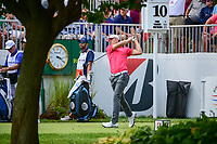 Jordan Spieth (USA) watches his tee shot on 10 during Saturday's round 3 of the World Golf Championships - Bridgestone Invitational, at the Firestone Country Club, Akron, Ohio. 8/5/2017.<br /> Picture: Golffile | Ken Murray<br /> <br /> <br /> All photo usage must carry mandatory copyright credit (&copy; Golffile | Ken Murray)