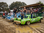 Opening and judging of the best looking car at the Destruction Derby, Sunday at the 80th Amador County Fair, Plymouth, Calif.<br /> .<br /> .<br /> .<br /> .<br /> #AmadorCountyFair, #1SmallCountyFair, #PlymouthCalifornia, #TourAmador, #VisitAmador