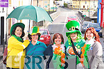 SUNSHINE: The people of Killorglin were blessed with sunshine as their St Patrick's Day parade through the town went off with out a hitch enjoying the parade were, Orna Eccles, Ann O'Sullivan, Edel Murphy, Fiona Kennedy and Linda Murphy.