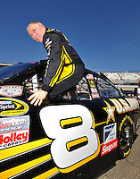 May 30, 2008; Dover, DE, USA; Nascar Sprint Cup Series driver Mark Martin during qualifying for the Best Buy 400 at the Dover International Speedway. Mandatory Credit: Mark J. Rebilas-US PRESSWIRE
