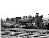D&amp;RGW #480 K-36 in Chama.<br /> D&amp;RGW  Chama, NM  6/11/1947