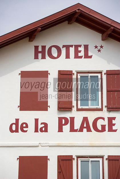 Europe/France/Aquitaine/64/Pyrénées-Atlantiques/Saint-Jean-de-Luz: Facade de l'Hotel de la Plage