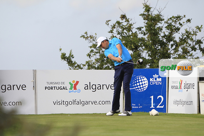 Peter Lawrie (IRL) on the 12th tee during the Practice-Round of the 2015 KLM Open at the Kennemer Golf &amp; Country Club in The Netherlands on 9/9/15.<br /> Picture: Thos Caffrey | Golffile