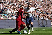 Roberto Firmino of Liverpool and Kieran Trippier of Tottenham Hotspur during Tottenham Hotspur vs Liverpool, Premier League Football at Wembley Stadium on 15th September 2018