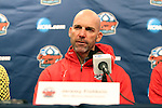 13 December 2013: New Mexico head coach Jeremy Fishbein during the postgame press conference. The University of Notre Dame Fighting Irish played the University of New Mexico Lobos at PPL Park in Chester, Pennsylvania in a 2013 NCAA Division I Men's College Cup semifinal match. Notre Dame won the game 2-0.