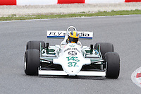 22.04.2012 Barcelona, Spain. GP Masters. Pictures show driver Christophe D' Ansembourg BEL with Williams FW07/C at Circuit Catalunya
