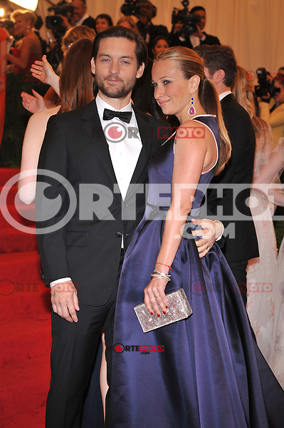 Tobey Maguire at the 'Schiaparelli And Prada: Impossible Conversations' Costume Institute Gala at the Metropolitan Museum of Art on May 7, 2012 in New York City. ©mpi03/MediaPunch Inc.