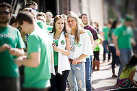 These images are from the st.patty's day annual drinkfest, The Beer Crawl, where people can go from bar to bar, and drink beer until they cant no more. Classy.