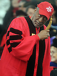 "(Boston Ma 051814) Comedian Bill Cosby on hand to get an  honorary degree during the Boston University Graduation, Sunday, May 18, 2014, in Boston. When students shouted out for Cosby to speak Cosby came to the microphone and remarks were ""hey, hey, hey.""  (Jim Michaud Photo) For Monday"