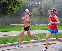 Runners round Lake Wingra during the Madison Mini-Marathon on Saturday, 8/21/10, in Madison, Wisconsin