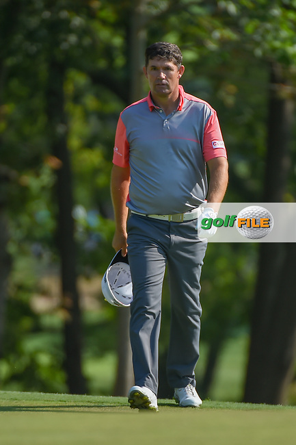 Padraig Harrington (IRL) looks over his chipshot on 9 during 2nd round of the 100th PGA Championship at Bellerive Country Club, St. Louis, Missouri. 8/11/2018.<br /> Picture: Golffile | Ken Murray<br /> <br /> All photo usage must carry mandatory copyright credit (© Golffile | Ken Murray)