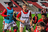 Fleetwood Town's forward Harvey Saunders (32) during the The Leasing.com Trophy match between Fleetwood Town and Liverpool U21 at Highbury Stadium, Fleetwood, England on 25 September 2019. Photo by Stephen Buckley / PRiME Media Images.