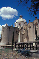 The Santuario de Atotonilco near San Miguel de Allende, Guanajuato state, Mexico. This sanctuary is an important Catholic pilgrimage site and a UNESCO World Heritage Site.