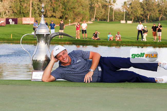Bryson Dechambeau (USA) winner of the Omega Dubai Desert Classic, Emirates Golf Club, Dubai,  United Arab Emirates. 27/01/2019<br /> Picture: Golffile | Thos Caffrey<br /> <br /> <br /> All photo usage must carry mandatory copyright credit (&copy; Golffile | Thos Caffrey)