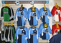 Replica shirts and kit on sale in the Wycombe Club Shop ahead of kick-off during Wycombe Wanderers vs Birmingham City, Carling Cup Football at Adams Park on 13th August 2008