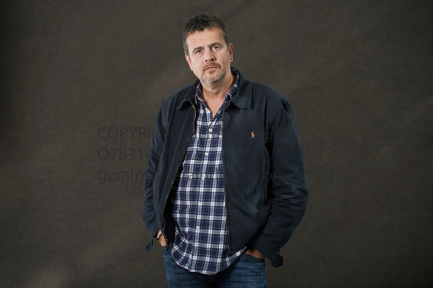 Mark Billingham, comedian and crime writer  at The Edinburgh International Book Festival   . Credit Geraint Lewis