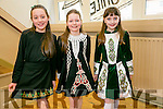At the ST Patricks Day Feis at Scoil Realt NA Maidne, Listowel on Sunday were Reanna O'Halloran, Ashling  O'Halloran, Miren O'Donoghue