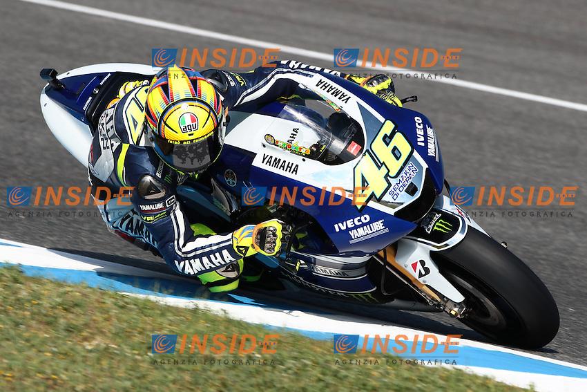.04-05-2013 Jerez de la Frontera (ESP).Motogp world championship.in the picture: Valentino Rossi - Yamaha factory team .Foto Semedia/Insidefoto.ITALY ONLY